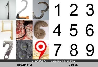 """Такая """"CAPTCHA"""": предметы, которые напоминают цифры (детали - в комментарии)"""