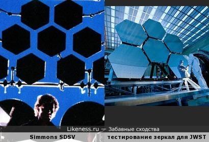 Электронные барабаны и сегменты зеркала космического телескопа им. Джеймса Уэбба