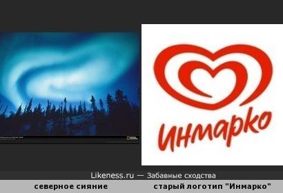 "Северное сияние напомнило старый логотип ""Инмарко"""