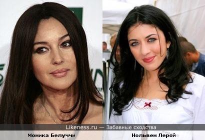 Нольевн Лерой немного напоминает Монику Белуччи