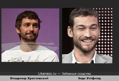 Владимир Крестовский похож на Энди Уитфилд