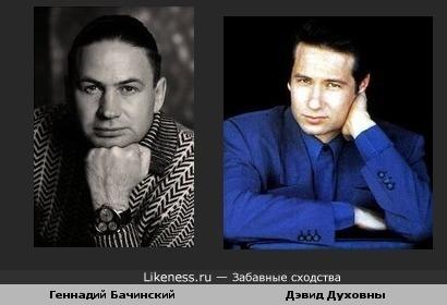 Геннадий Бачинский похож на Дэвид Духовны