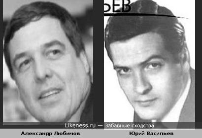 Александр Любимов похож на Юрия Васильева