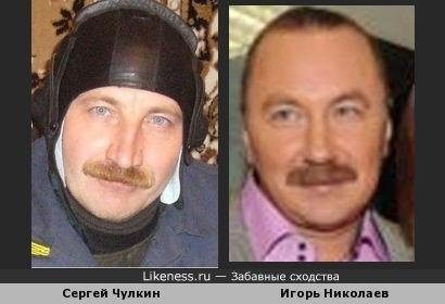 Игорь Николаев похож на Сергея Чулкина