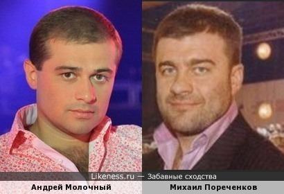 Михаил Пореченков похож на Андрея Молочного