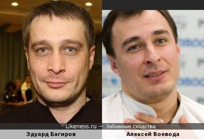 Алексей Воевода похож на Эдуарда Багирова