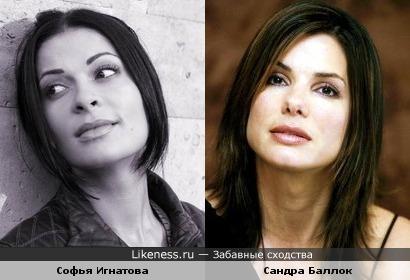 Софья Игнатова (актриса сериала Ангел в сердце) похожа на Сандру Баллок
