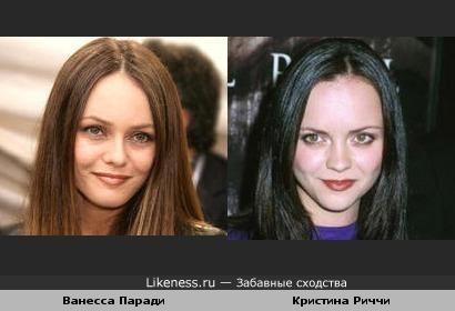 Звезды-двойники: Кристина Риччи похожа на Ванессу Паради