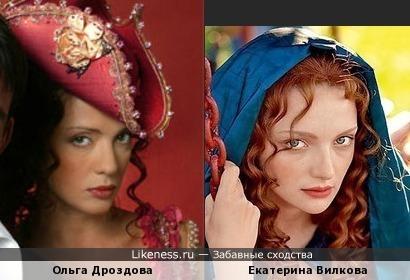 Ольга Дроздова и Екатерина Вилкова на этих фото чем-то похожи