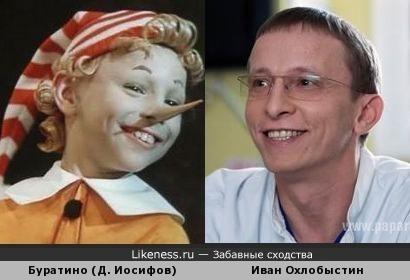 Буратино (Д. Иосифов) и Иван Охлобыстин