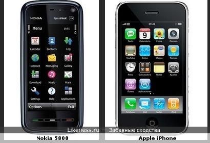 Nokia 5800 мне напоминает Apple iPhone