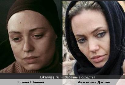 Елена Шанина в молодости была похожа на Анжелину Джоли