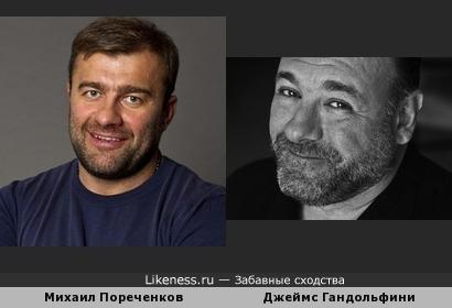 Михаил Пореченков с возрастом всё больше становится похож на Джеймса Гандольфини