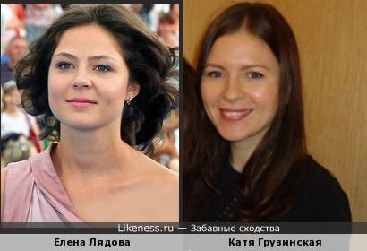 Елена Лядова очень похожа на ... есть ли у нее сестра?