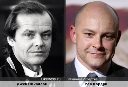 Джек Николсон и Роб Кордри