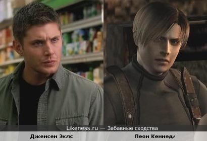 Дин Винчестер похож на Леона Кеннеди из игры Resident Evil 4