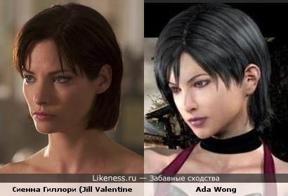 Джилл Валентайн (Обитель зла 2: Апокалипсис) и Ада Вонг (Resident Evil 4 / Biohazard 4)