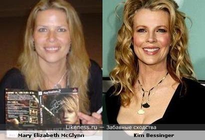 Мэри Элизабет (вокалистка музыки Silent Hill) и Ким Бейсингер похожи