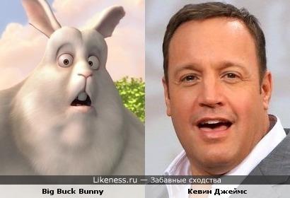 """Big Buck Bunny похож на Кевина Джеймса (""""Метод Хитча"""")"""