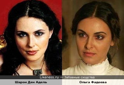 Шарон Ден Адель напомнила Ольгу Фадееву