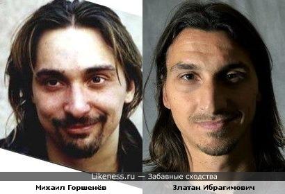 Златан Ибрагимович и Михаил Горшенев