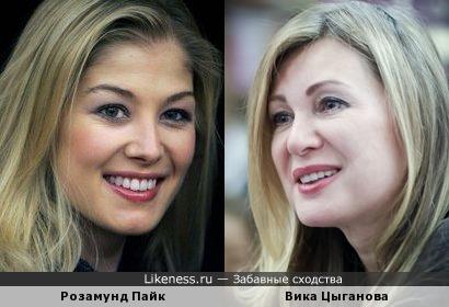 Вика Цыганова и Розамунд Пайк