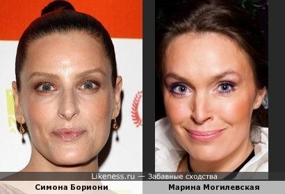 Симона Бориони напомнила Марину Могилевскую