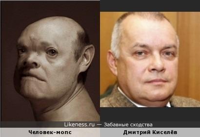 Человек-собака из серии фотопортретов Manimals Дэниела Ли напомнил Дмитрия Киселёва