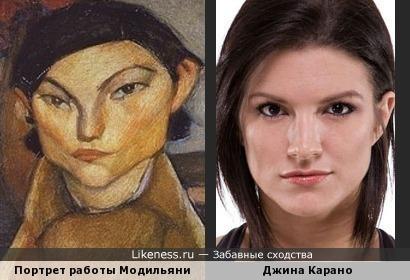 Портрет работы Модильяни напомнил Джину Карано