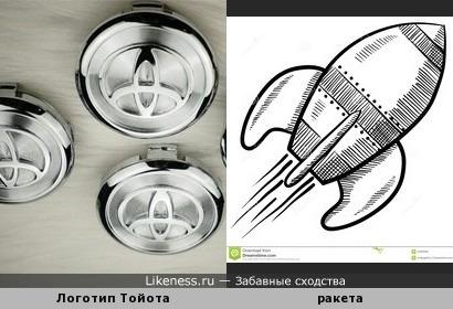 Логотип Тойота напоминает ракету