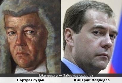 Дмитрий Медведев и судья