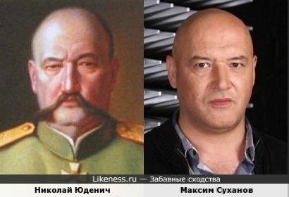 Судя по портрету на роль Николая Юденича подойдет и Максим Суханов