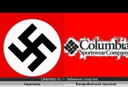 Свастика похожа на Колумбийский логотип