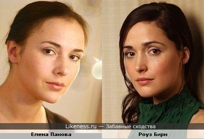 Елена Панова похожа на Роуз Бирн