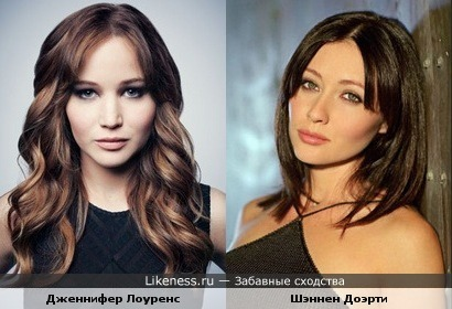 Дженнифер Лоуренс и Шэннен Доэрти