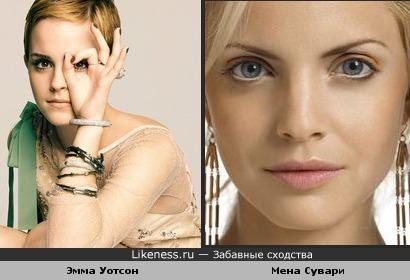 Эмма Уотсон похожа на Мену Сувари