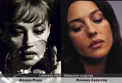 Жанна Моро и Моника Белуччи