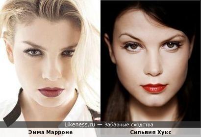 Итальянская певица Эмма Марроне похожа на голландскую актрису Сильвию Хукс