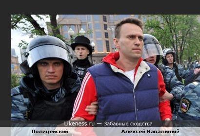 Навальный похож на копа