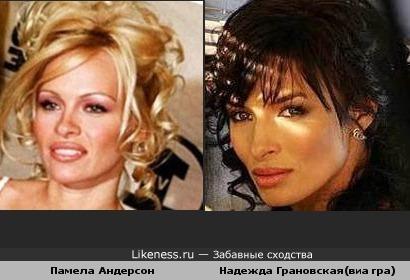 Памела Андерсон похожа на Надежду Грановскую(виа гра)