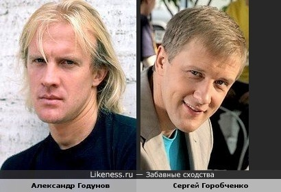 Сергей Горобченко похож на Александра Годунова