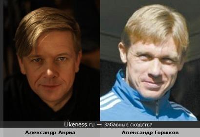 Российско-финский актёр Александр Анриа и футболист Александр Горшков похожи.