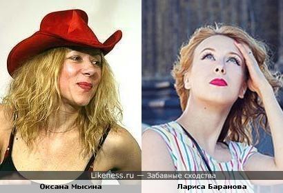Оксана Мысина и Лариса Баранова