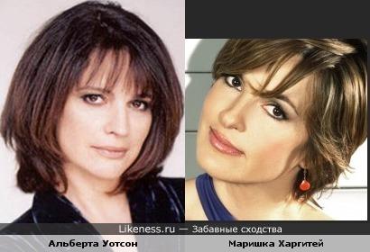 Альберта Уотсон и Маришка Харгитей (Mariska Hargitay)