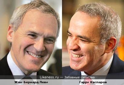 Жан-Бернард Леви и Гарри Каспаров