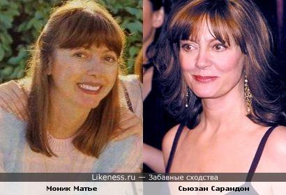 сестра певицы Мирей Матье похожа на Сьюзан Сарандон