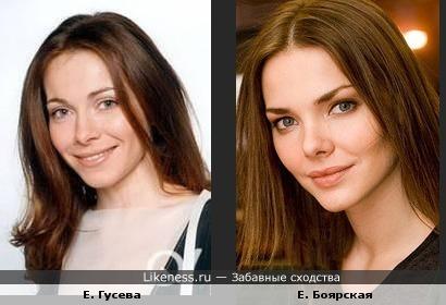 Екатерина Гусева похожа на Елизавету Боярскую