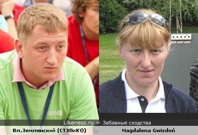 КВНщик и биатлонистка похожи!?)