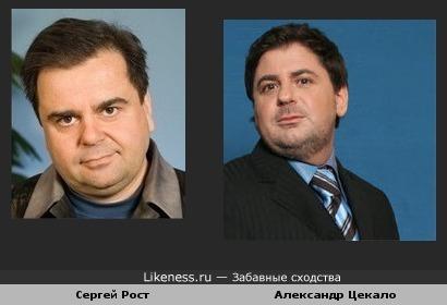 Сергей Рост и Александр Цекало похожи
