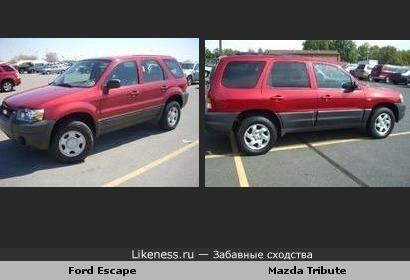 Ford Escape отдалённо напоминает Mazda Tribute